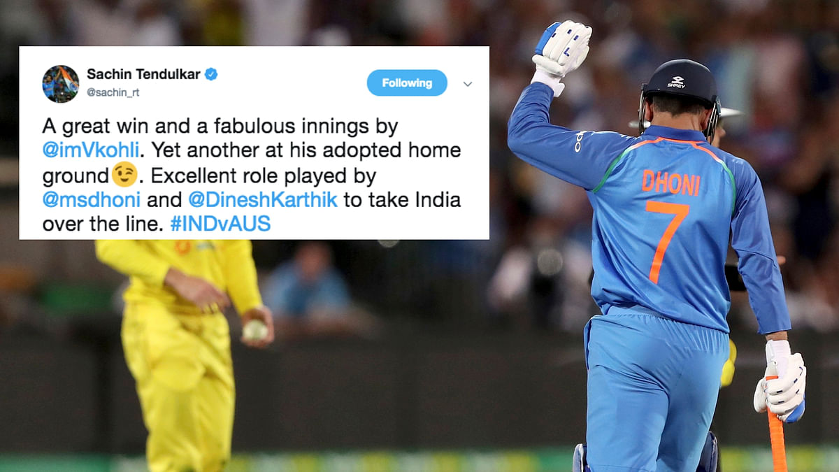 Sachin, Sehwag, Laxman Laud Dhoni After India's Win Over Australia
