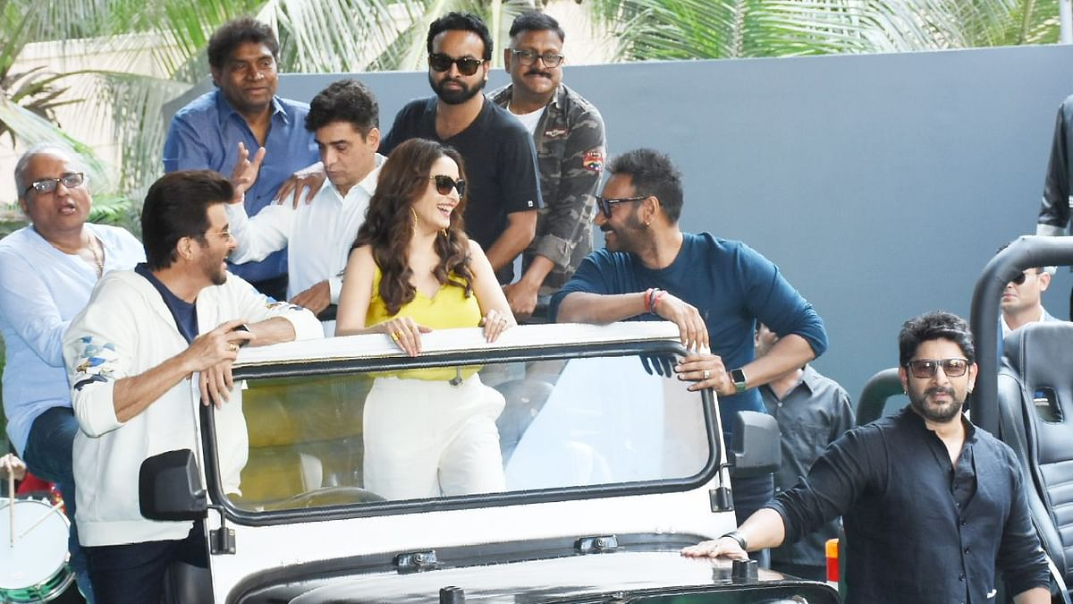The  Mood Is 'Total Dhamaal' for Ajay, Anil and Madhuri