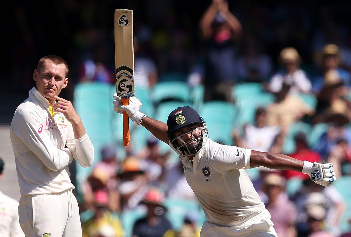 Rishabh Pant scored his second international century during India's fourth Test against Australia.