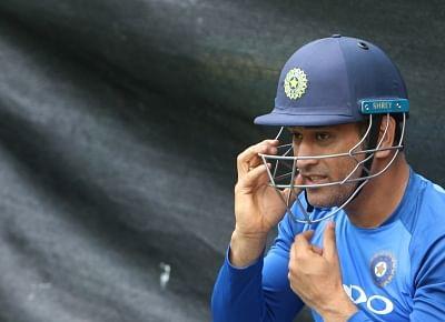 Hamilton (New Zealand): Indian wicket-keeper MS Dhoni during a practice session at Sadden Park, Hamilton, New Zealand on Jan. 30, 2019. (Photo: Surjeet Yadav/IANS)