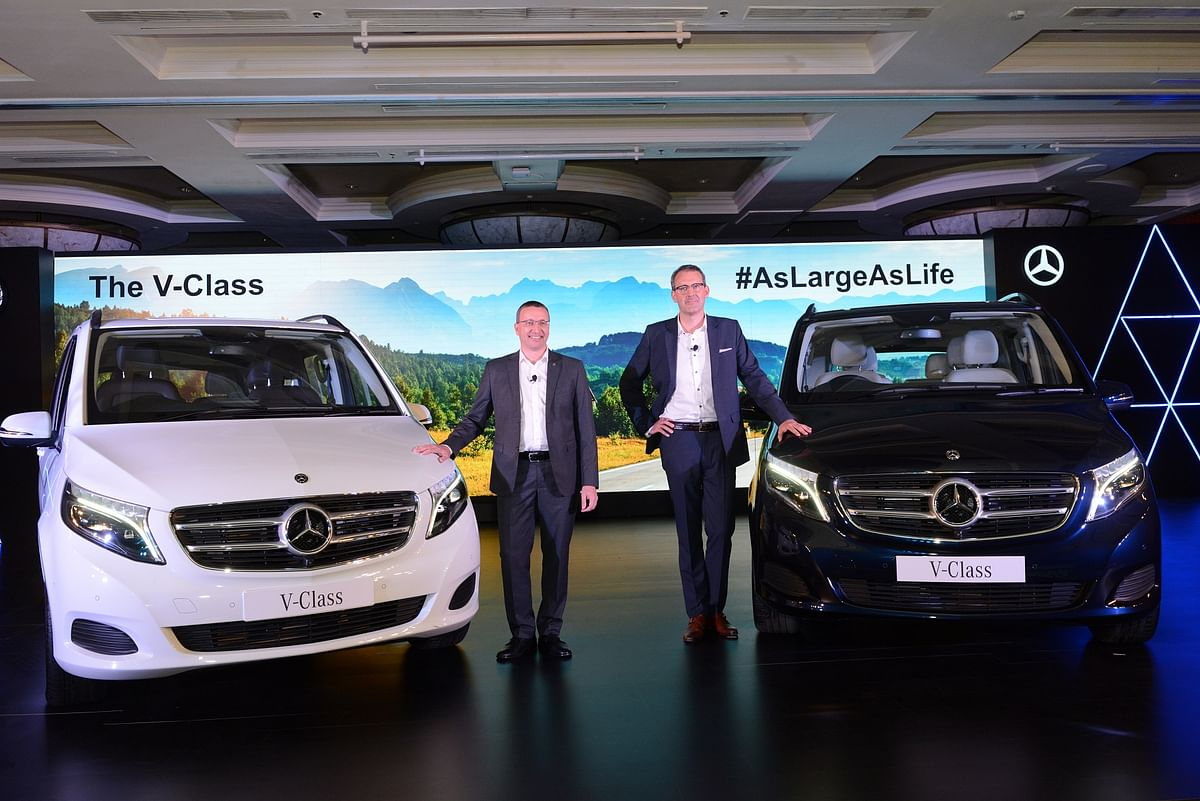 The Mercedes-Benz V-Class comes in two variants.