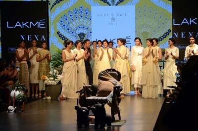 Mumbai:Fashion designer Varun Bahl at Lakme Fashion Week (LFW) Summer/Resort 2019 in Mumbai, on Jan 30, 2019. (Photo: IANS)