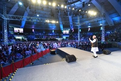 New Delhi: Prime Minister Narendra Modi addresses at