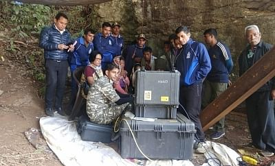 Ksan: Indian Naval divers detected pictures of a body using an underwater ROV (remotely operated vehicle) in Ksan of Meghalaya