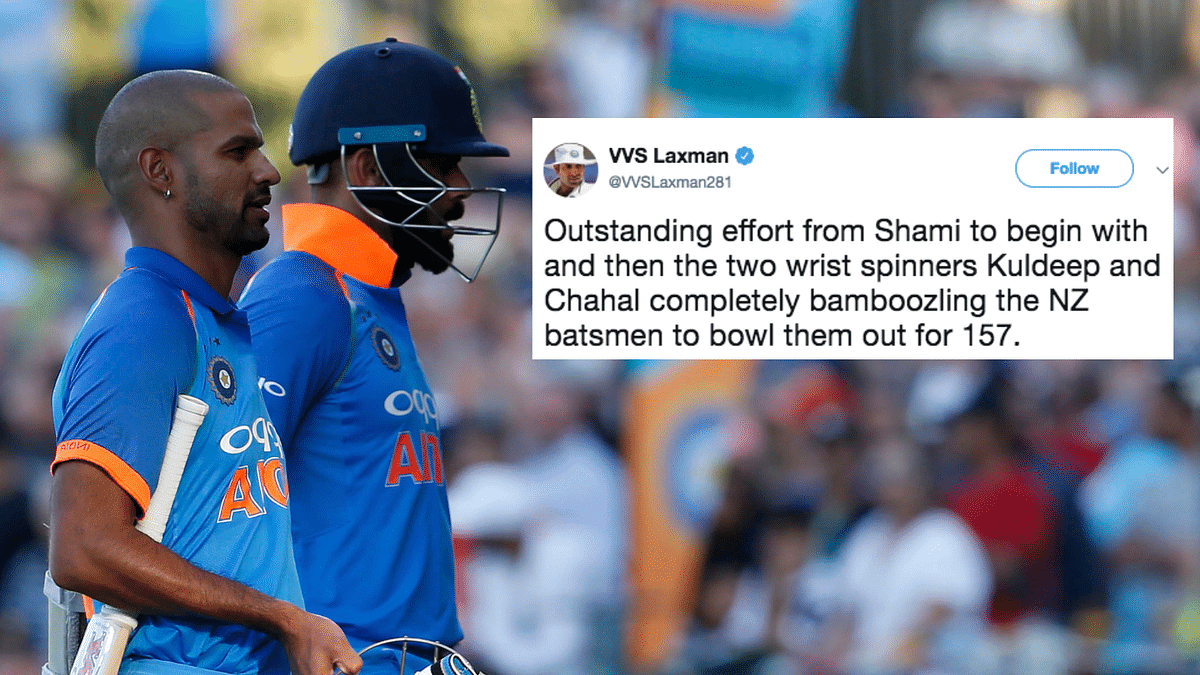 Twitter Lauds Dhawan & Bowlers' Performances in India's Win