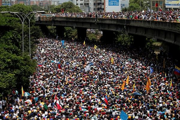 Venezuelans in cities nationwide participated in what the opposition called 'the mother of all protests,' on 19 April, 2017. Several people were killed in police crackdowns.