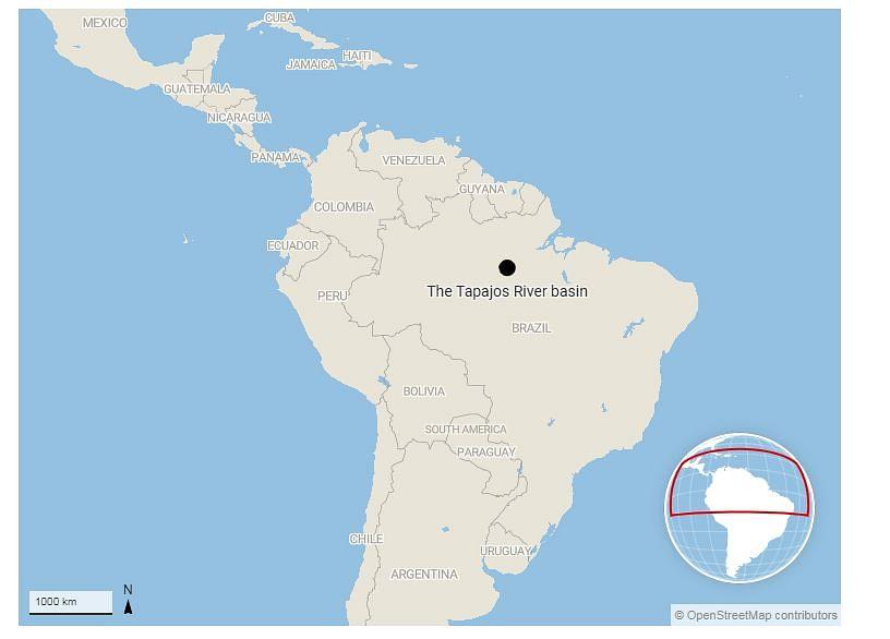 The Tapajos river basin