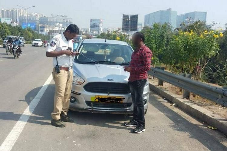 The Cyberabad Police, under whose jurisdiction the vehicles were stopped, said that their penalty amounts ran into several thousand rupees.