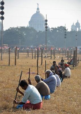 Kolkata: Preparations for Trinamool Congress chief Mamata Banerjee