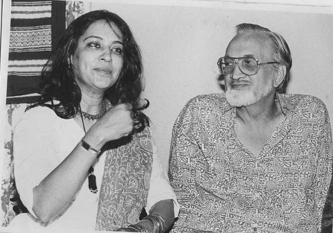 Priya Tendulkar with father Vijay Tendulkar.