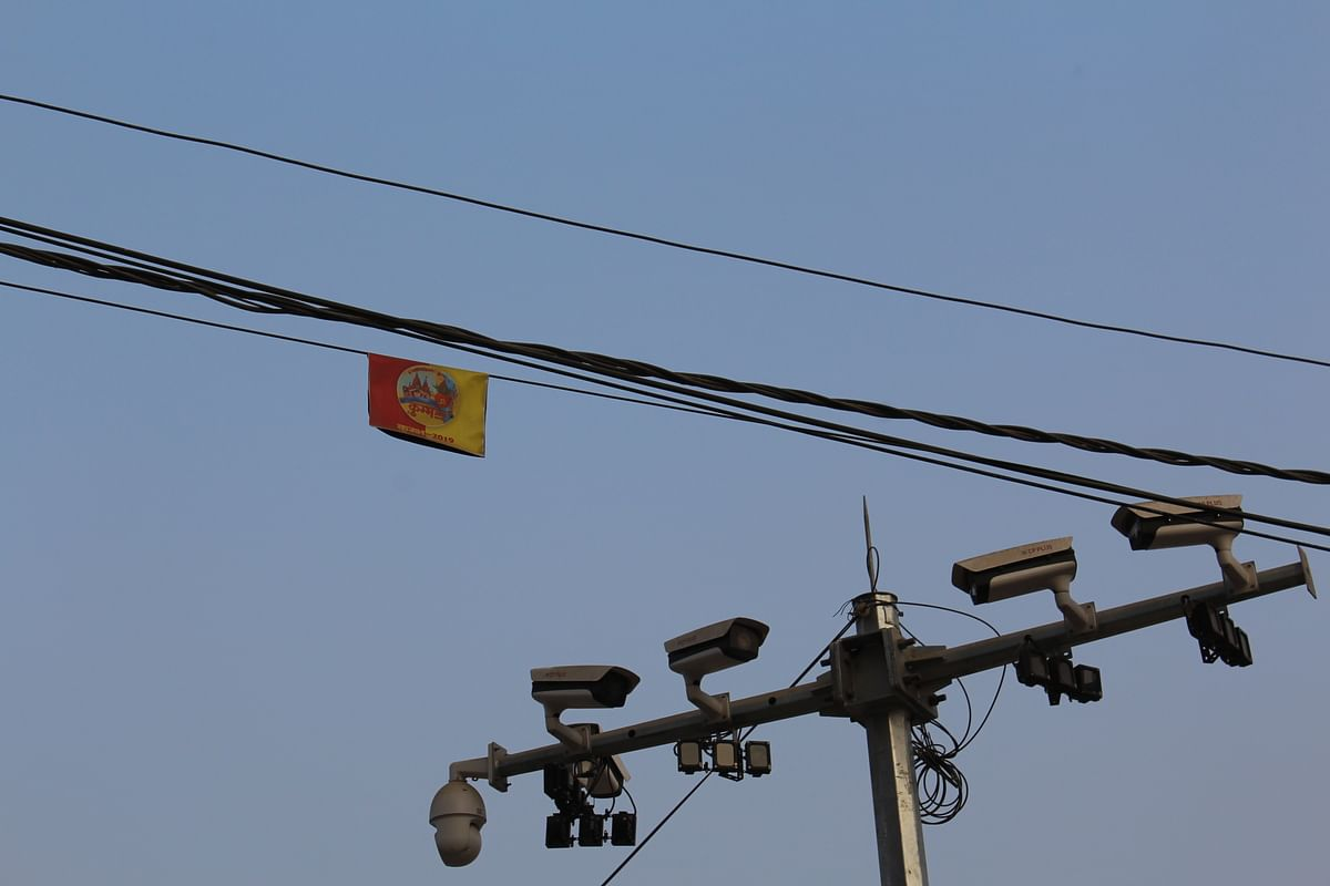 CCTV cameras spotted all over the mela area.