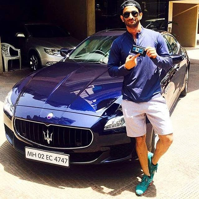 Sushant Singh Rajput with his Maserati.