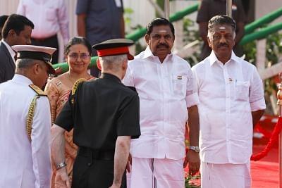 Tamil Nadu Chief Minister Edappadi K. Palaniswami and Deputy Chief Minister O. Panneerselvam. (Photo: IANS)