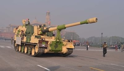 T-90 battle tanks during 2019 Republic Day rehearsals on Rajpath. (File Photo: IANS)