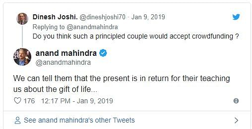 For Couple Fond of Travelling, Anand Mahindra, Twitter Plan A Gift