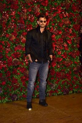 Mumbai: Actor Hrithik Roshan at the wedding reception of actors Ranveer Singh and Deepika Padukone in Mumbai, on Dec 1, 2018. (Photo: IANS)