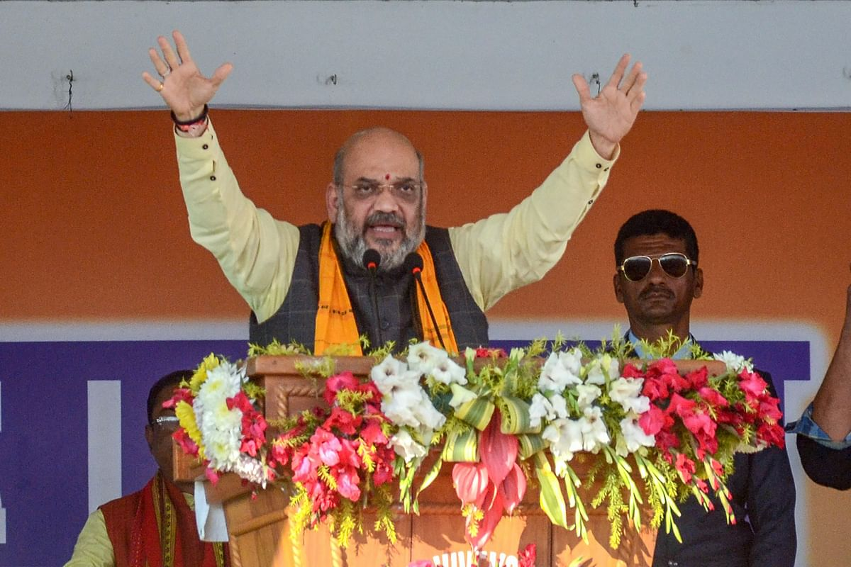 BJP Chief Amit Shah in Tripura, Agartala