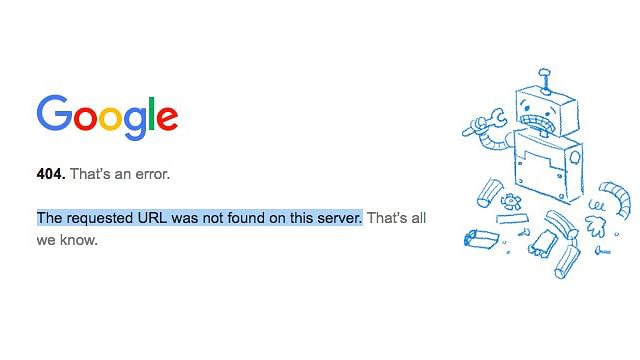 The error message when trying to access Gmail.