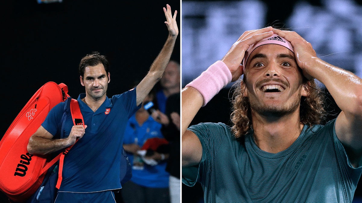 Two-time defending champion Roger Federer crashed out of the Australian Open with a shock round of 16 defeat to Greek teenager Stefanos Tsitsipas.