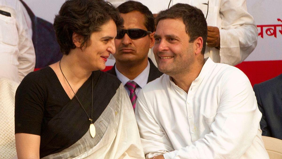 File photo of Priyanka Gandhi Vadra and Rahul Gandhi.