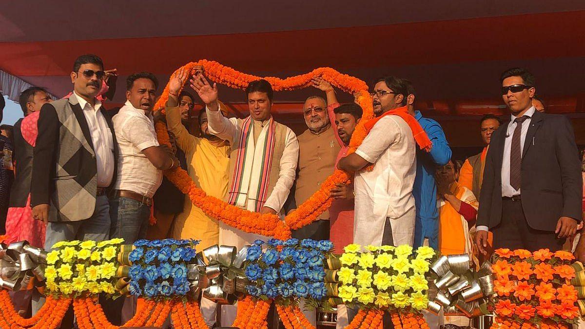 Tripura CM Biplab Kumar Deb.