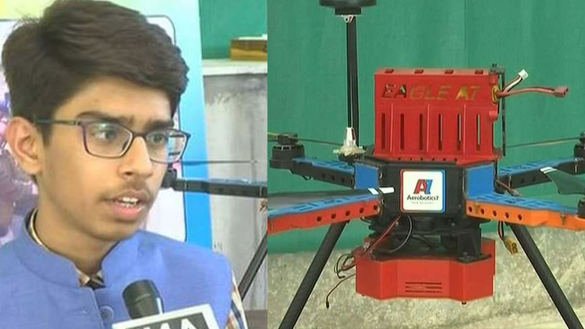 16-Year-Old Boy Designs Drone to Detect & Destroy Landmines
