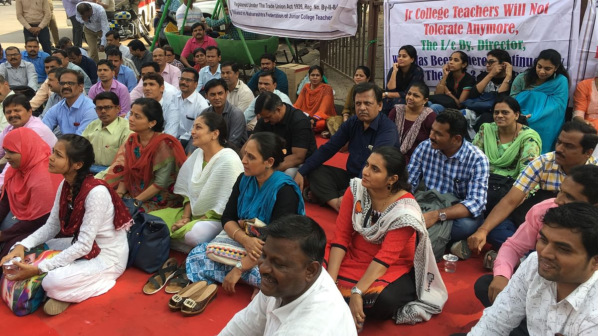Mumbai Teachers Protest Over Salary Dues, Demand Permanent Posts