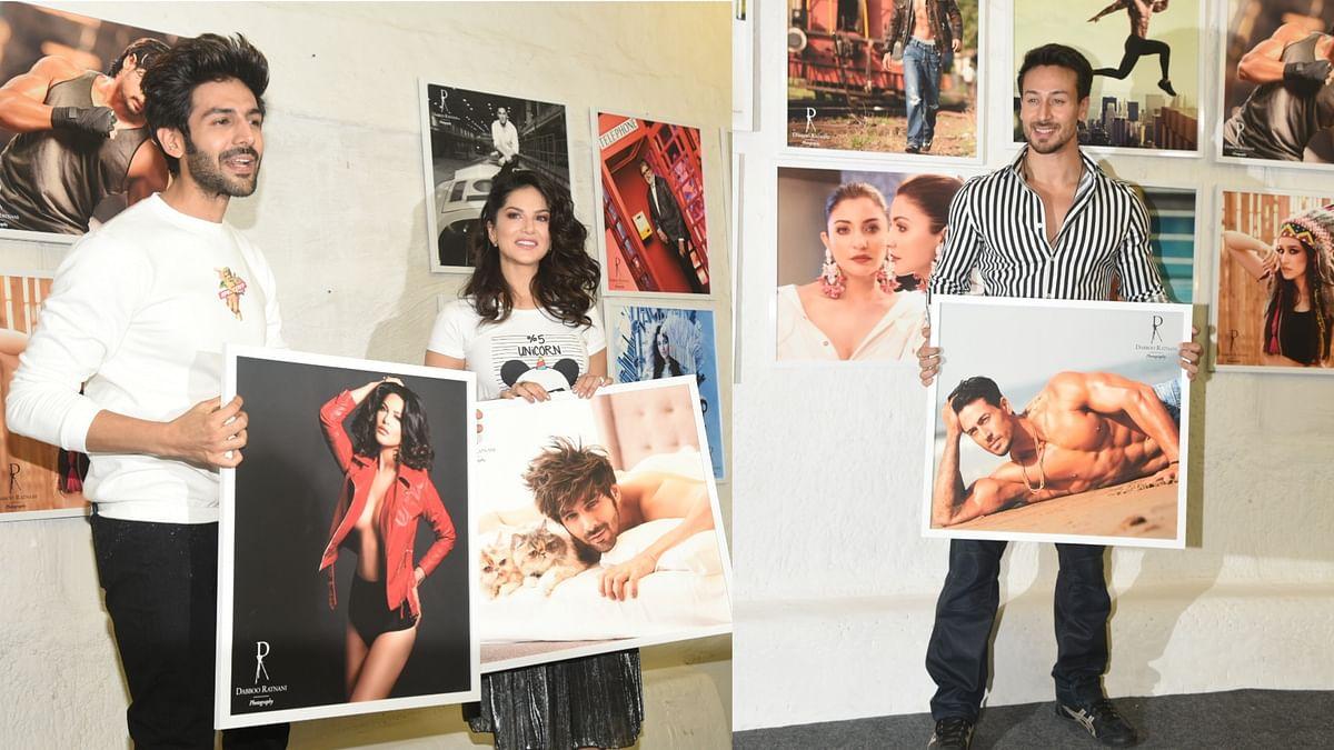 Kartik Aryan, Sunny Leone, Tiger at Dabboo Ratnani Calendar Launch