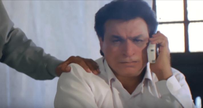 Kader Khan in <i>Angaar.</i>
