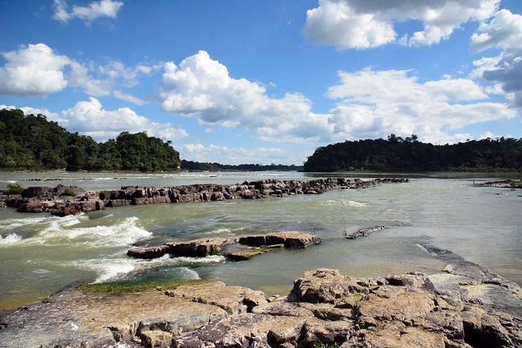 The Tapajos River, downstream from where a dam could be built.