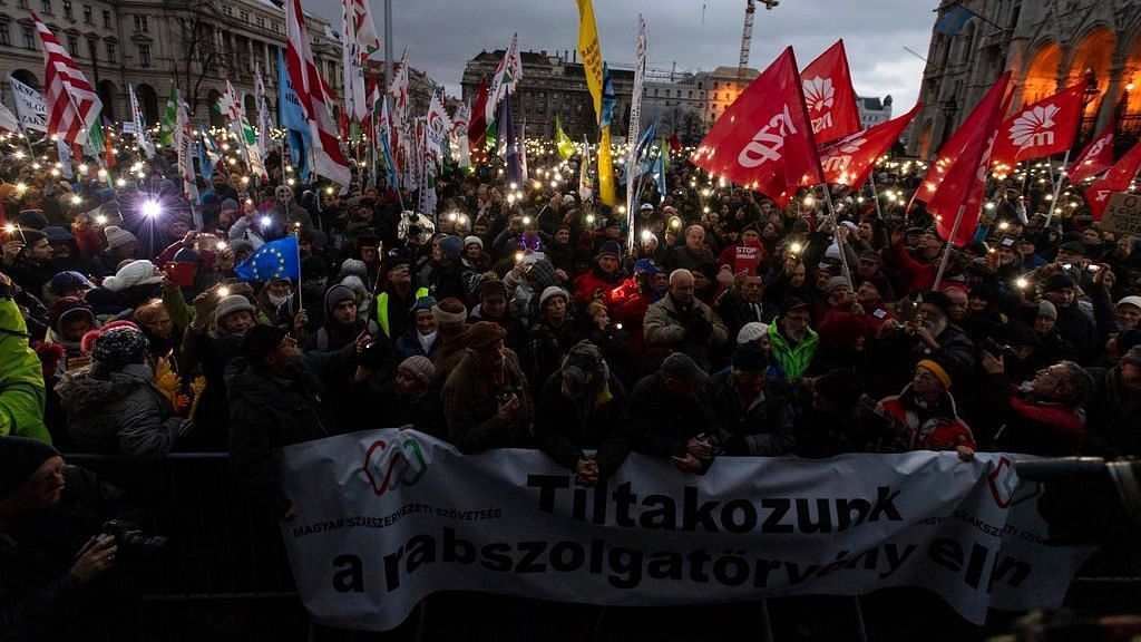 Unions in Hungary Go On Strike to Protest Against 'Slave Law'