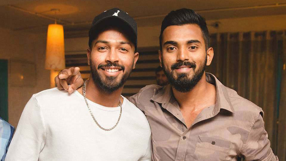 KL Rahul and Hardik Pandya have been suspended, pending an enquiry.