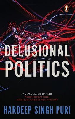 """""""Delusional Politics"""" Book cover."""