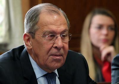 Russian Foreign Minister Sergei Lavrov. (Xinhua/POOL/Denis Balibouse/IANS)