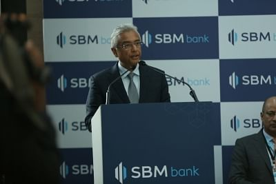 Mumbai: Mauritius Prime Minister P.K. Jugnauth addresses at the inauguration of the SBM Bank (India) Ltd in Mumbai, on Jan 25, 2019. SBM Bank (India) Ltd becomes the first foreign bank in India that was granted the Reserve Bank of India (RBI) licence to operate as a wholly owned subsidiary. (Photo: IANS)