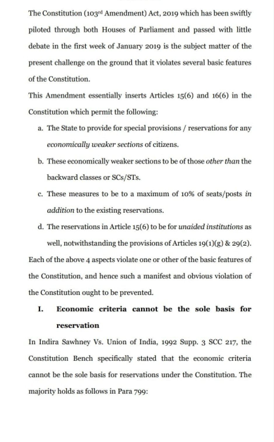 Upper Caste Quota Bill Meets First Legal Challenge