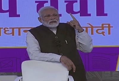 New Delhi: Prime Minister Narendra Modi interacts with students, teachers and parents during