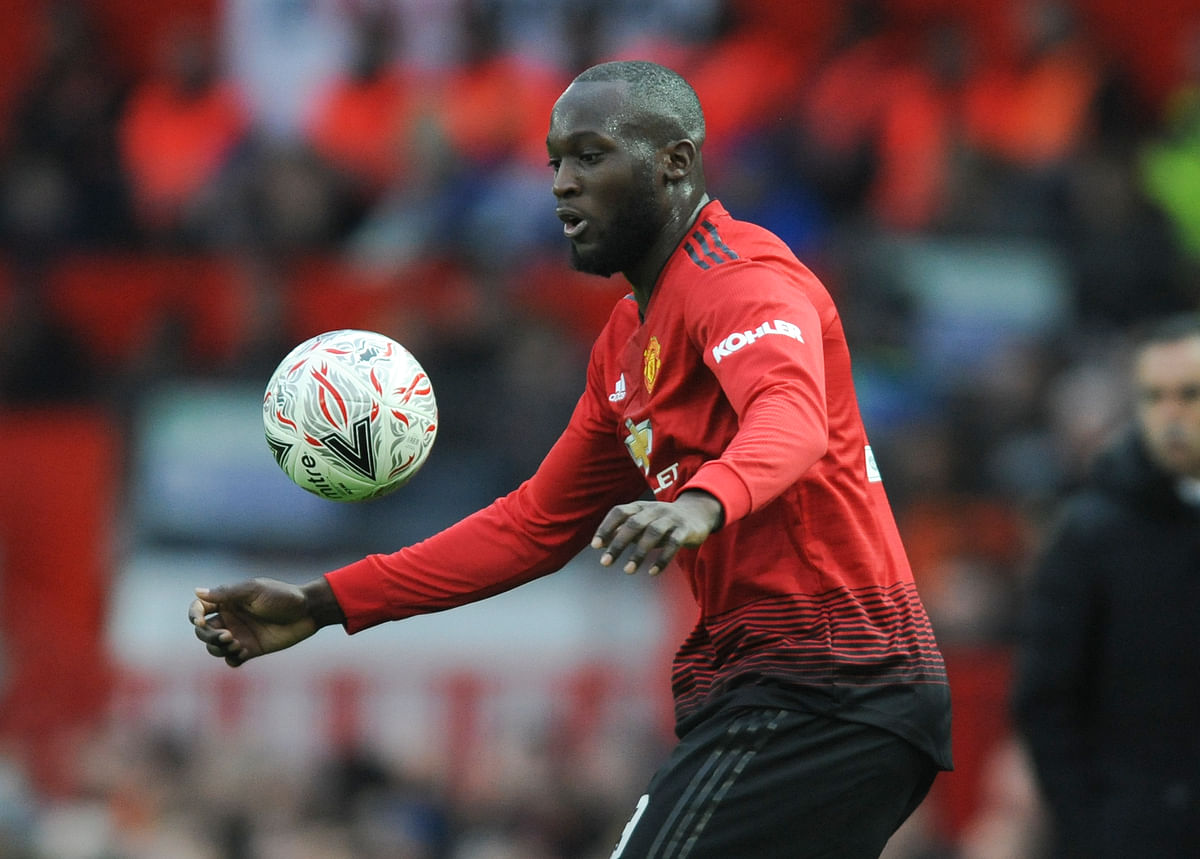 Romelu Lukaku score a first-half goal for United in their FA Cup match against Reading.