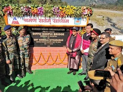 Sitharaman visits forward base at Indo-China border