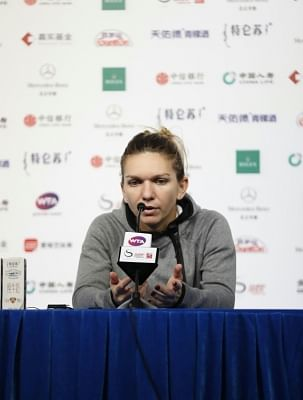 Simona Halep. (Xinhua/Jia Haocheng/IANS)