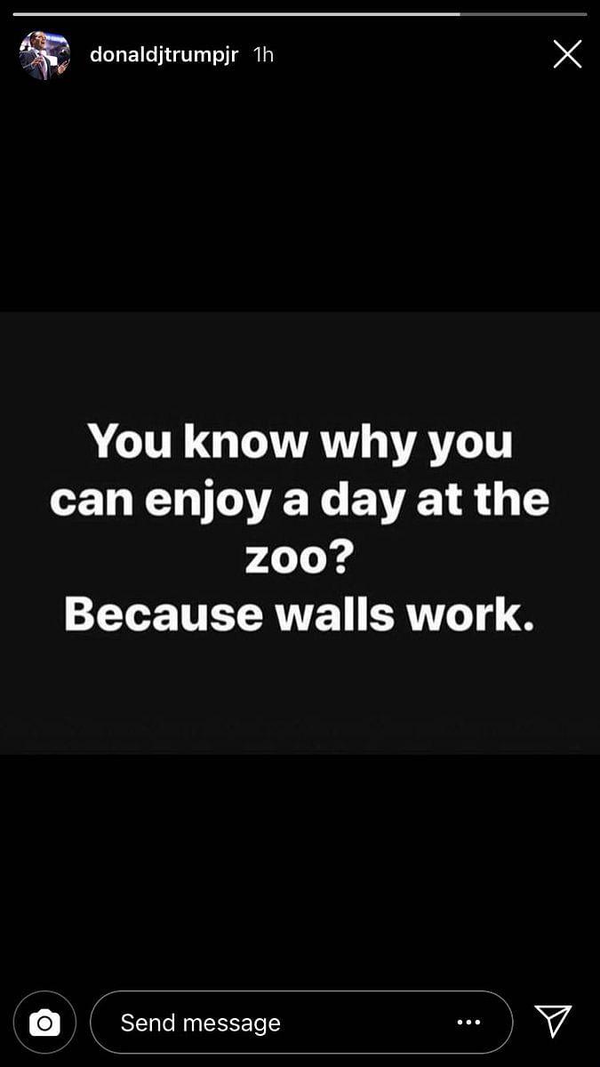 Donald Trump's Son Compares Zoo Fences to Border Walls