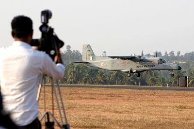 Bengaluru: An IAF aircraft performs during a rehearsal ahead of