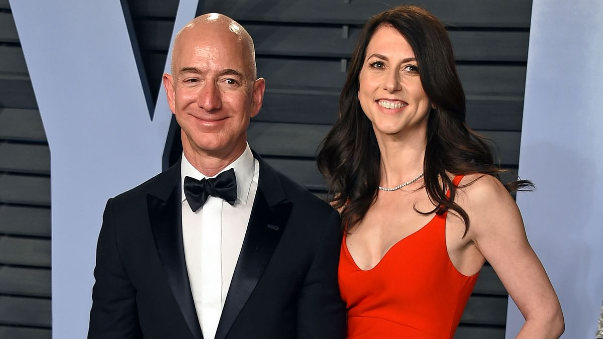 Jeff Bezos with ex-wife MacKenzie Bezos.