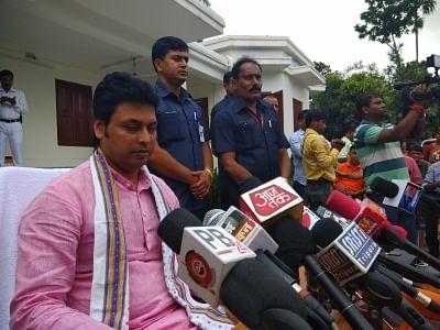 Tripura Chief Minister Biplab Kumar Deb. (photo: IANS)