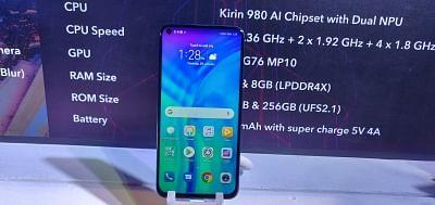 Gurugram: The newly launched Honor View 20 smartphone, in Gurugram on Jan 29, 2019. (Photo: IANS)