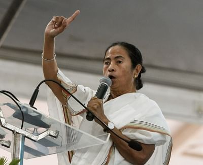Krishnanagar: West Bengal Chief Minister Mamata Banerjee addresses during a meeting in Nadia
