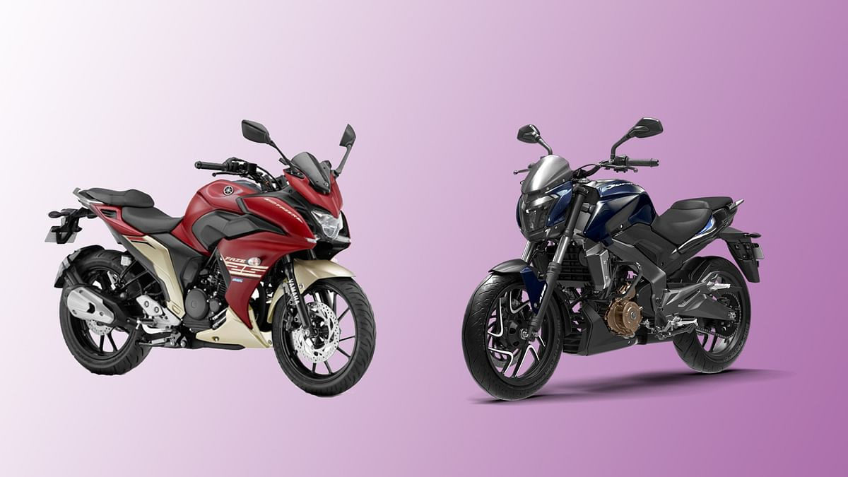Yamaha Fazer 25 (left) and Bajaj Dominar 400 (right) both support dual-channel ABS.