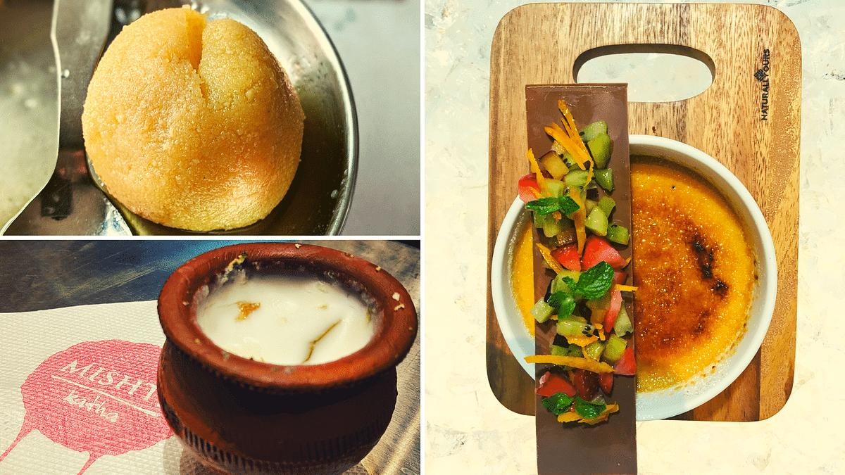 Sweet treats in Kolkata.