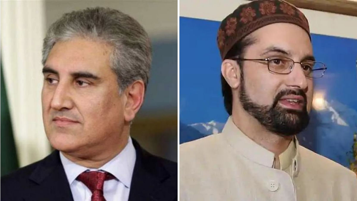 Pakistan's Foreign Minister Shah Mahmood Qureshi (left) Tuesday telephoned Hurriyat leader Mirwaiz Umar Farooq (right) and discussed with him Islamabad's efforts to highlight the Kashmir issue.