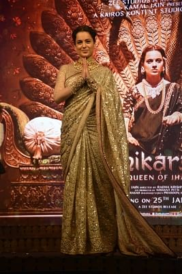 "Mumbai: Actress Kangana Ranaut at the music launch of her upcoming film ""Manikarnika: The Queen Of Jhansi"" in Mumbai on Jan 9, 2019. (Photo: IANS)"